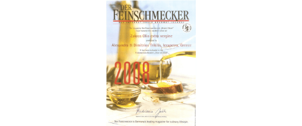 Feinschmecker olive oil test winner eleones zakros