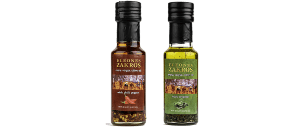Flavored olive oil from Zakros-Sitia