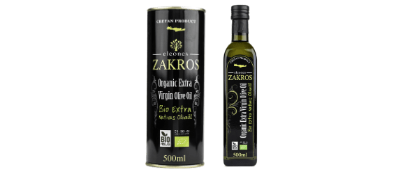 Organic olive oil from Zakros